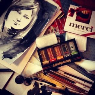 Инструменты и подарки художника (фото из личного архива С. Баловина)