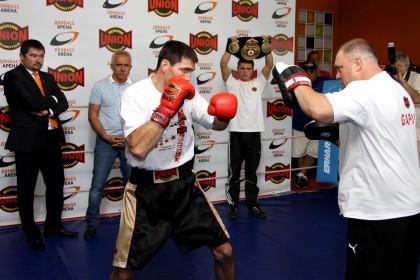 открытая тренировка боксеров