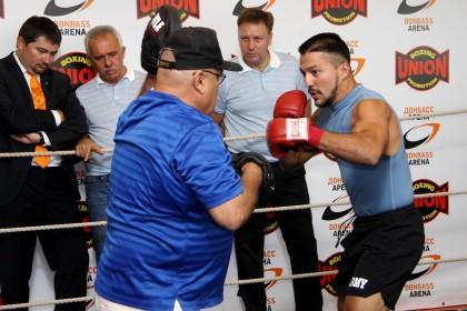 Открытая тренировка боксеров в Донецке