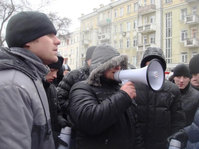 Титушки на Донецком Евромайдане