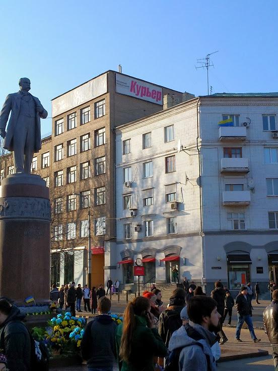 митинг у памятника Шевченко