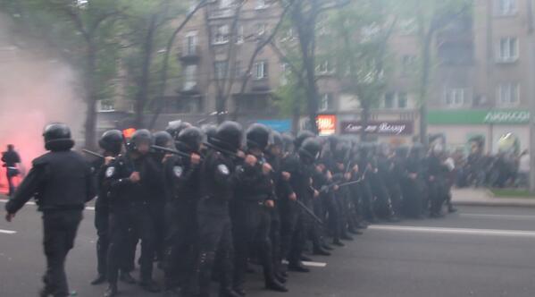 милиция Донецк митинг
