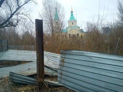 Храм на Смолянке попадание в крышу